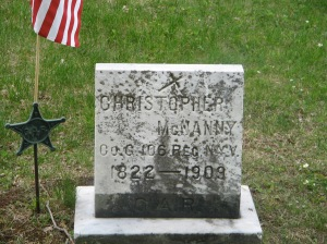 Christopher McNanny's  Grave at St. John the Baptist Cemetery, Madrid, New York
